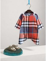 Burberry Check Cotton Padded Playsuit