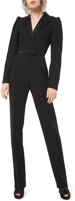 Michael Kors Puff-Sleeve Blazer Jumpsuit
