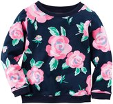 Carter's Floral Top (Baby) - Navy-9 Months