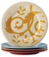 Rachael Ray Rachael RayTM Gold Scroll Round Appetizer Plates (Set of 4)