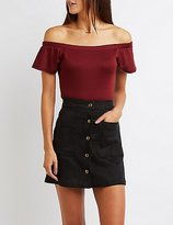Charlotte Russe Fitted Off-The-Shoulder Top