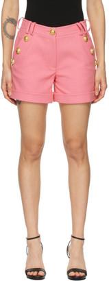 Balmain Pink Cotton Low-Rise Shorts