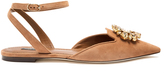 Dolce & Gabbana Belluci point-toe suede flats