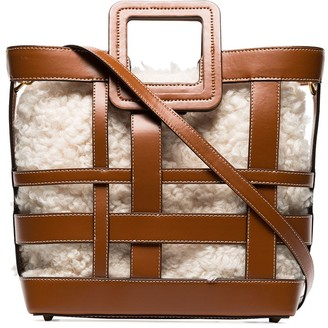 STAUD Shirley shearling leather tote