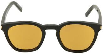 Saint Laurent 49MM Mirrored Square Sunglasses