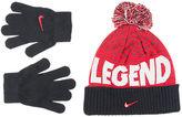 Nike Boys' Attitude Beanie and Glove Set