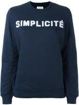 Zoe Karssen 'simplicité' print sweatshirt