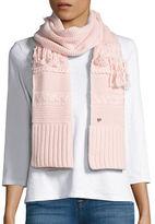 UGG Fringe Accented Wool-Blend Scarf