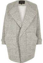 River Island Womens Grey marl fallaway jacket