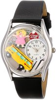 Whimsical Watches Women's S0640012 School Bus Driver Black Leather Watch