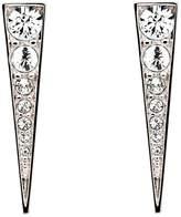 Melissa Odabash Rhodium crystal arrow earrings