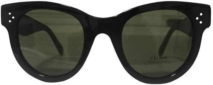 Celine New Audrey Black Plastic Sunglasses