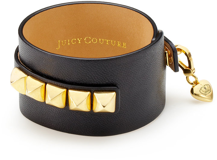 Juicy Couture Leather Charm Cuff Bracelet