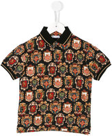 Dolce & Gabbana shield print polo shirt