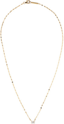 Lana 14k Gold Emerald-Cut Diamond Pendant Necklace