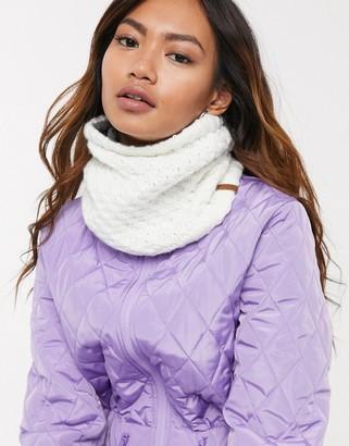 Roxy Snow Blizzard neck warmer in white