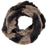 Jocelyn Knitted Fur Infinity Scarf w/ Tags