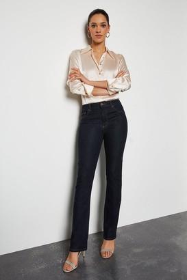 Karen Millen Power Stretch Indigo Long Kick Jeans