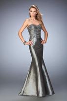La Femme GiGi - 22721 Strapless Metallic Taffeta Mermaid Gown