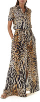 Melissa Odabash Naomi Animal-Print Button-Down Coverup Dress