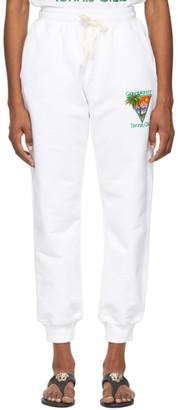 Casablanca White Tennis Club Lounge Pants