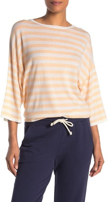 Vince Striped Wool Blend Boxy Tee