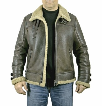 Bonamaison Car Coat Men's%100 Sheep Leather XXL Jacket