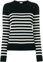 Saint Laurent striped top - women - Wool - XS