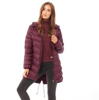 Trespass Womens Rianna Padded Hooded Long Jacket Fig