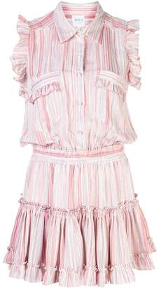 MISA Los Angeles striped shirt-style dress
