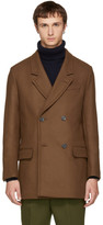 Ami Alexandre Mattiussi Brown Wool Double-breasted Coat