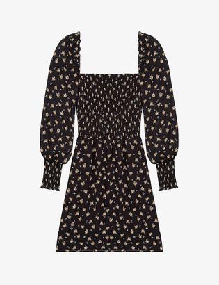 Maje Rithik floral-print crepe mini dress