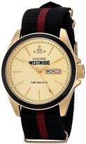 Vivienne Westwood Men's VV068GDBK Camden Lock II Analog Display Swiss Quartz Black Watch
