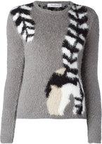 Max Mara trompe l'oeil stole sweater - women - Cotton/Polyamide - S