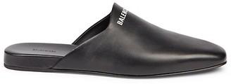 Balenciaga Cosy Logo Leather Mules