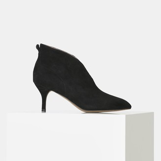 Shoe The Bear Black Suede Valentine Low-Cut Boots - 36 | suede leather | black - Black/Black