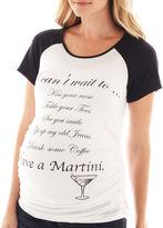 Asstd National Brand Maternity Martini Knit Short-Sleeve Tee