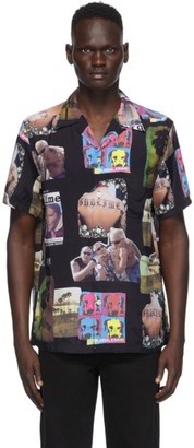 Wacko Maria Black Sublime Edition Collage Print Shirt