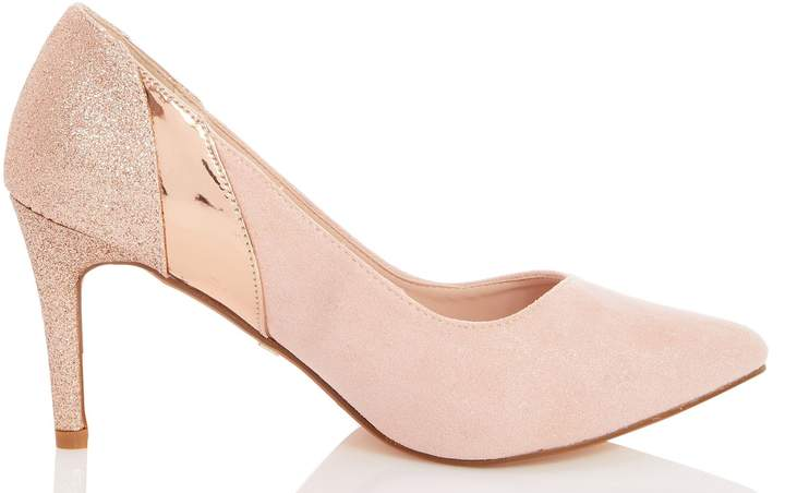 ab596d0eccf Womens *Quiz Wide Fit Pink High Heel Court Shoes