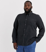 French Connection Plus plain flannel shirt