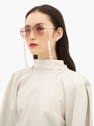 Frame Chain Pearly Queen Pearl And Gold-plated Glasses Chain - White Multi