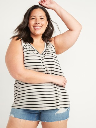 Old Navy Luxe Striped Plus-Size V-Neck Tank Top