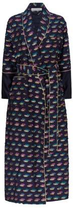 Olivia von Halle Silk Geometric Pattern Robe