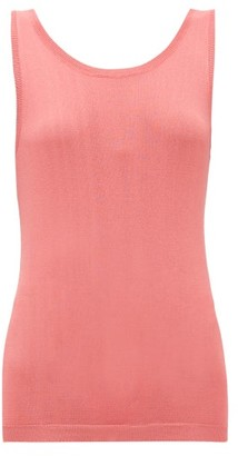 Sara Lanzi Scoop-back Knitted Tank Top - Womens - Coral