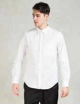 Opening Ceremony White Powell Poplin Zip Pocket Slim Shirt