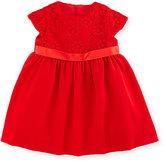 Florence Eiseman Floral Tulle Velvet Dress, Red, Size 2-6