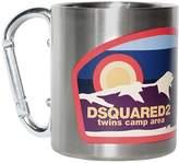 DSQUARED2 Printed Metal Mug W/ Carabiner Handle