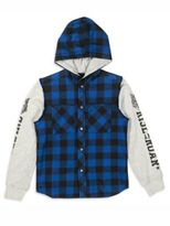 Diesel Toddler's, Little Boy's & Boy's Crefti Hooded Buffalo Check Shirt