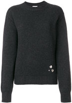 Saint Laurent heart pin jumper - women - Cashmere - S