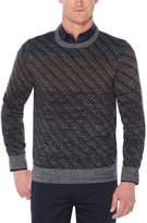 Perry Ellis Ombre Jacquard Crew Sweater